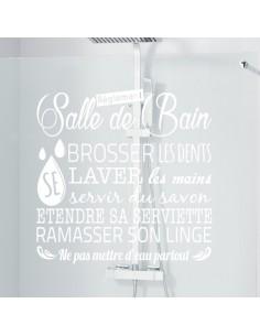 Règlement de la salle de bain