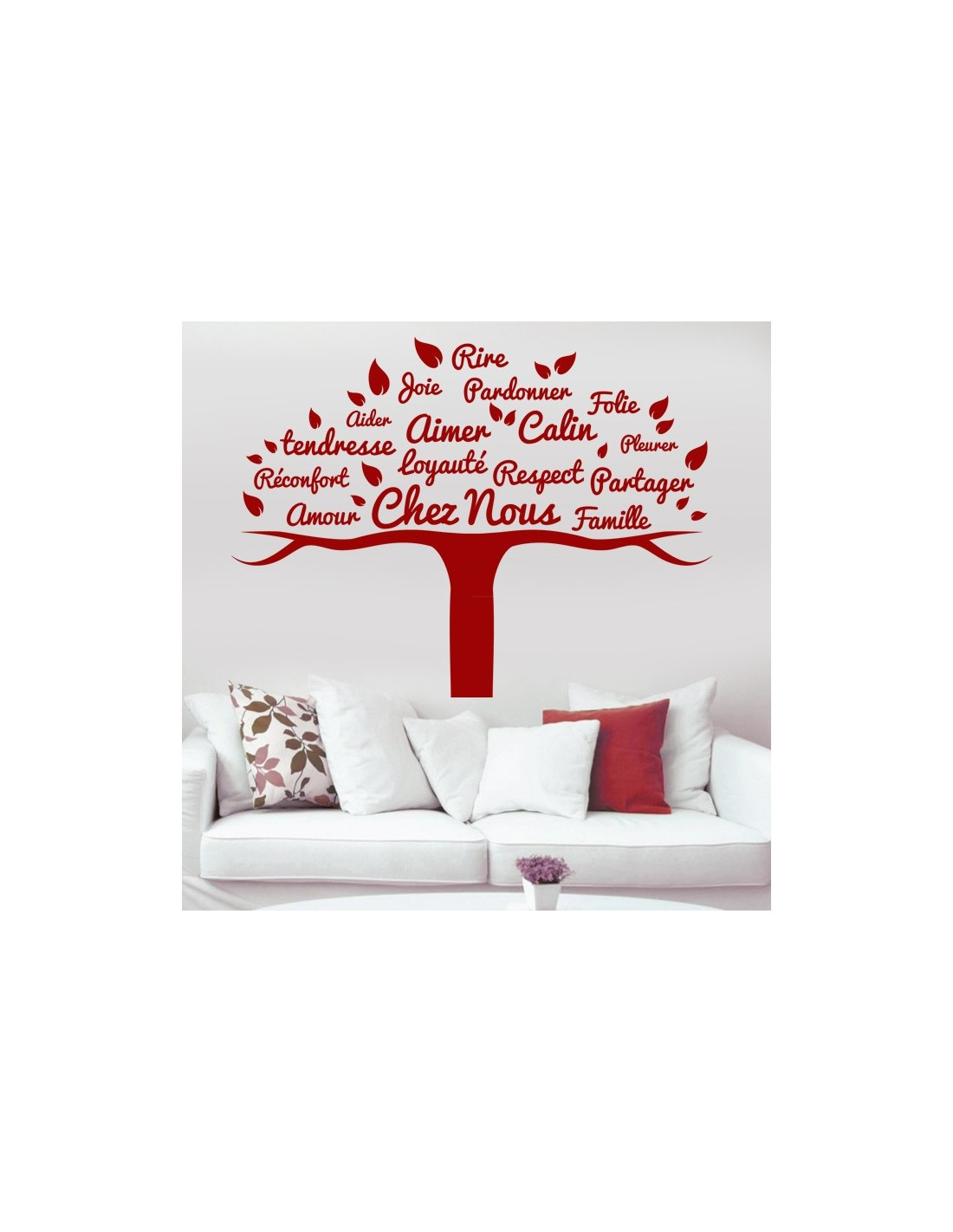 Stickers d coration arbre famille stickers muraux th me - Stickers muraux arbre ...