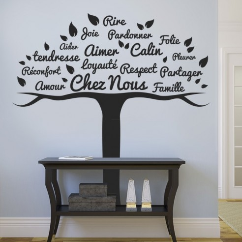 stickers d coration arbre famille stickers muraux th me famille. Black Bedroom Furniture Sets. Home Design Ideas