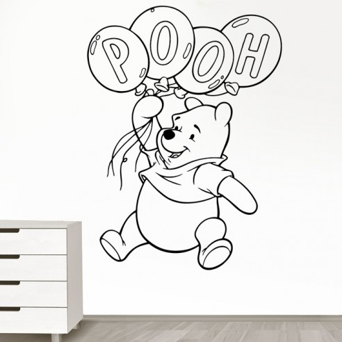 stickers d coration enfant winnie l 39 ourson stickers muraux. Black Bedroom Furniture Sets. Home Design Ideas