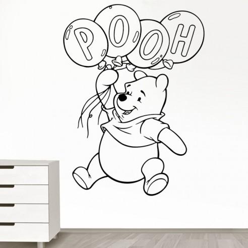 stickers d coration enfant winnie l 39 ourson stickers muraux. Black Bedroom Furniture Sets. Home Design Ideas