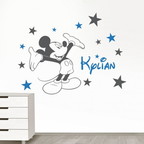 stickers muraux de d coration pour enfant sticker mickey. Black Bedroom Furniture Sets. Home Design Ideas