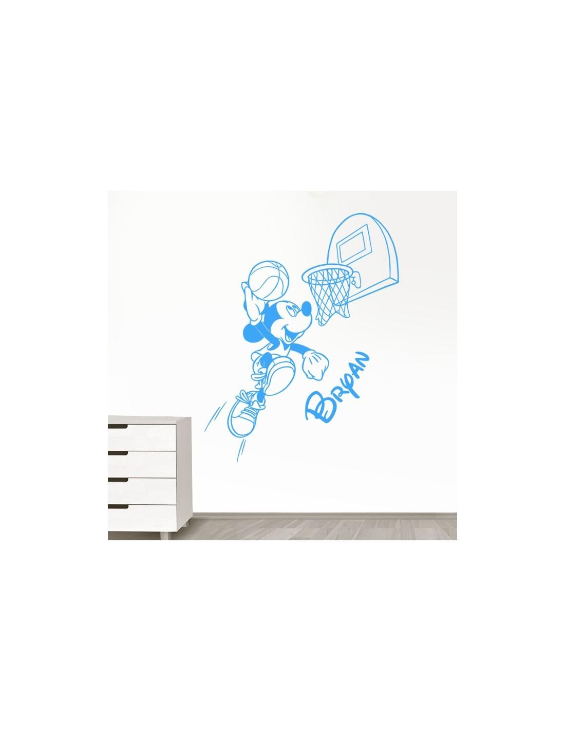 Stickers muraux mickey avec pr nom personnalis sticker mickey disney - Stickers muraux personnalise ...