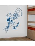 Sticker Mickey basket personnalisé