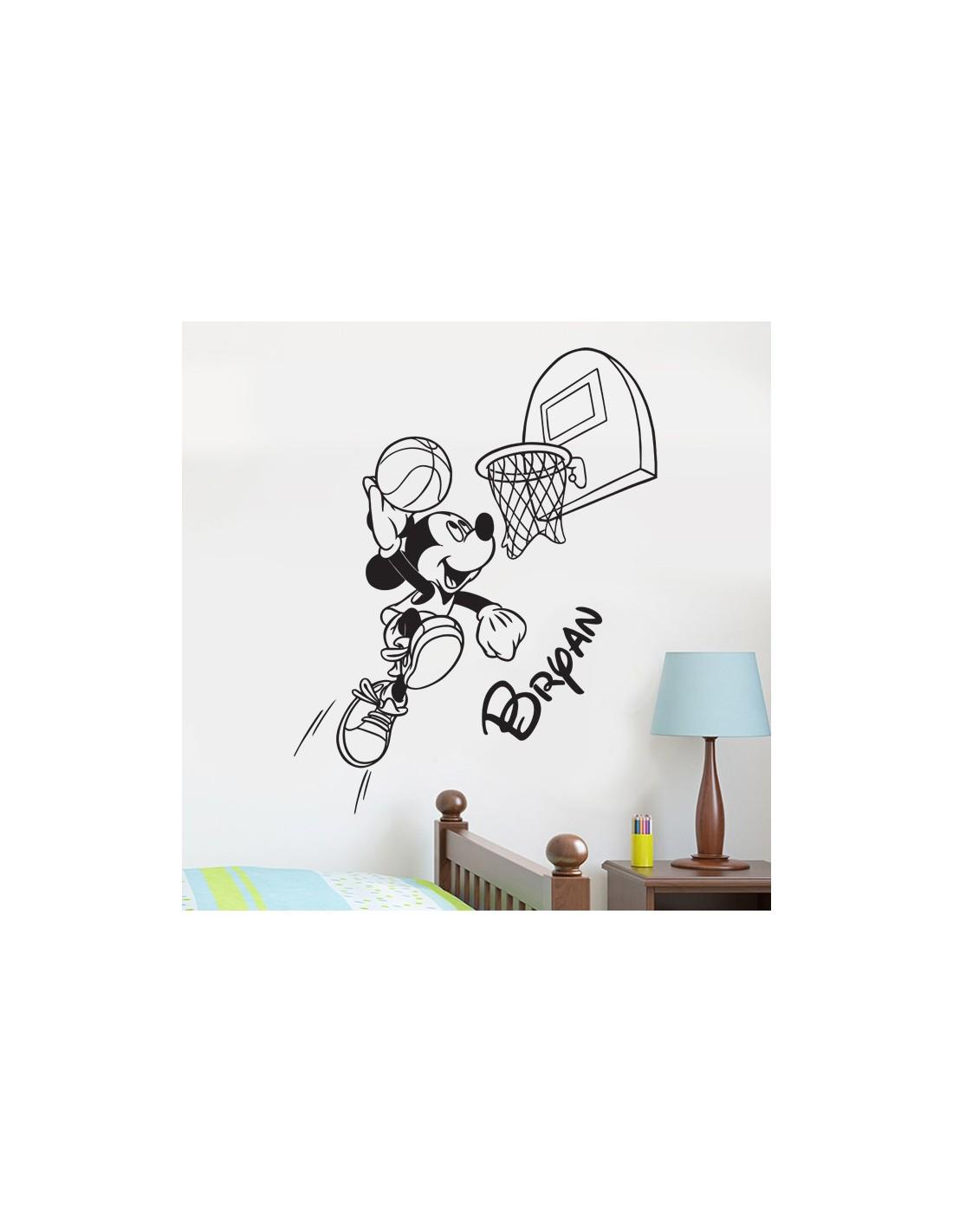 stickers muraux mickey avec pr nom personnalis sticker mickey disney. Black Bedroom Furniture Sets. Home Design Ideas