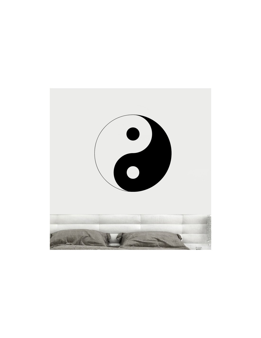 Sticker de d coration le yin et le yang stickers muraux for Lit yin yang