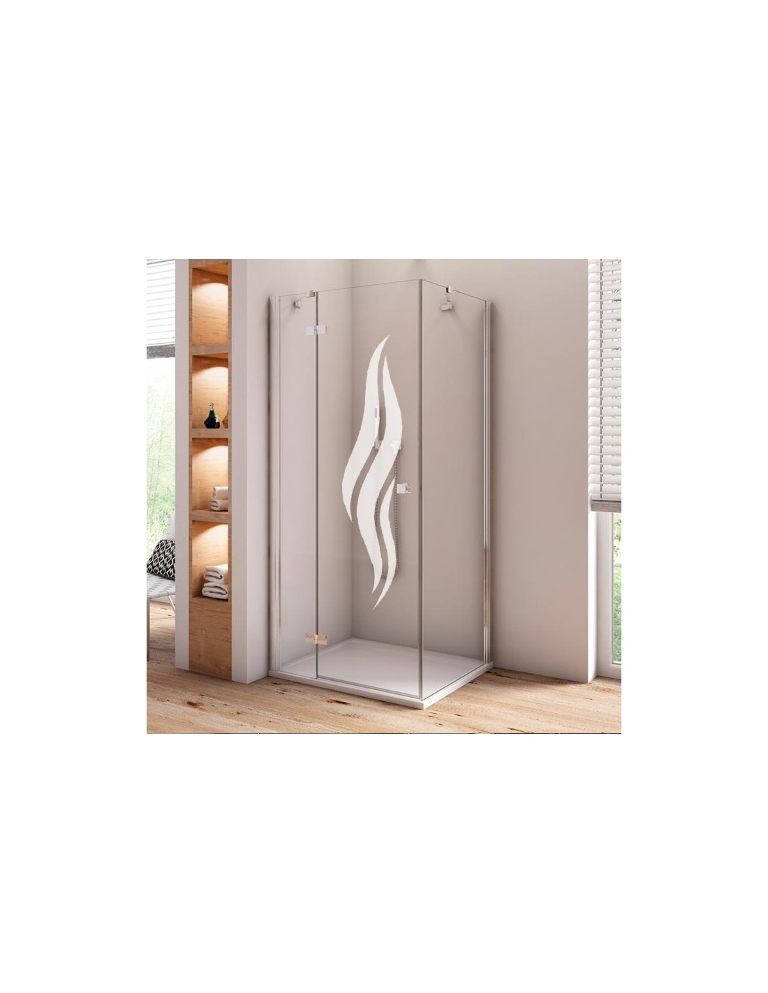stickers paroi de douche film d coratif d poli et opaque pas cher. Black Bedroom Furniture Sets. Home Design Ideas