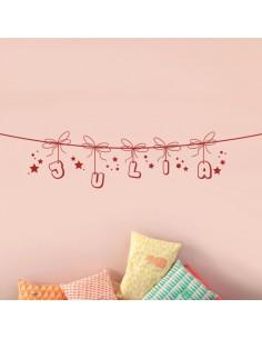 sticker corde prénom personnalisé fille