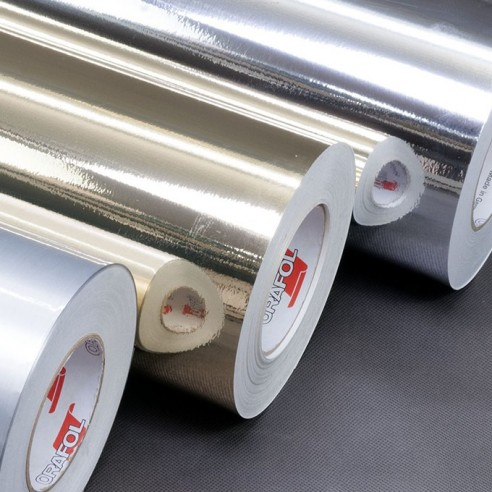 Film adhésif polyester chrome or alu