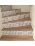 Stickers contremarches d'escaliers trompe l'oeil