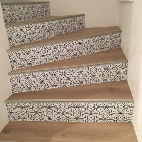 sticker contremarche d 39 escalier rosace stickers pour. Black Bedroom Furniture Sets. Home Design Ideas