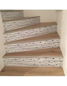 Stickers contremarches d'escaliers lignes déco