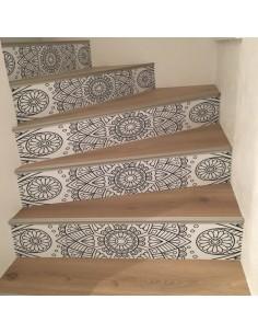 Stickers contremarches d'escaliers déco orientale