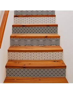 Kit stickers déco contremarche escalier