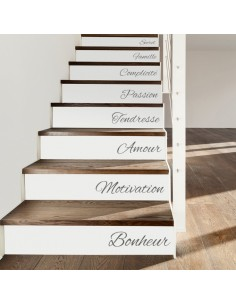 stickers d coratifs pour contremarches d 39 escalier. Black Bedroom Furniture Sets. Home Design Ideas