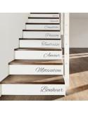Stickers x5 contremarche escalier