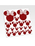 Stickers têtes Minnie