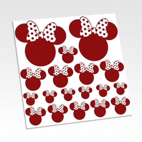 Stickers têtes Minnie