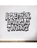 Sticker graffiti alphabet