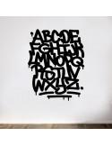 Sticker graffiti alphabet