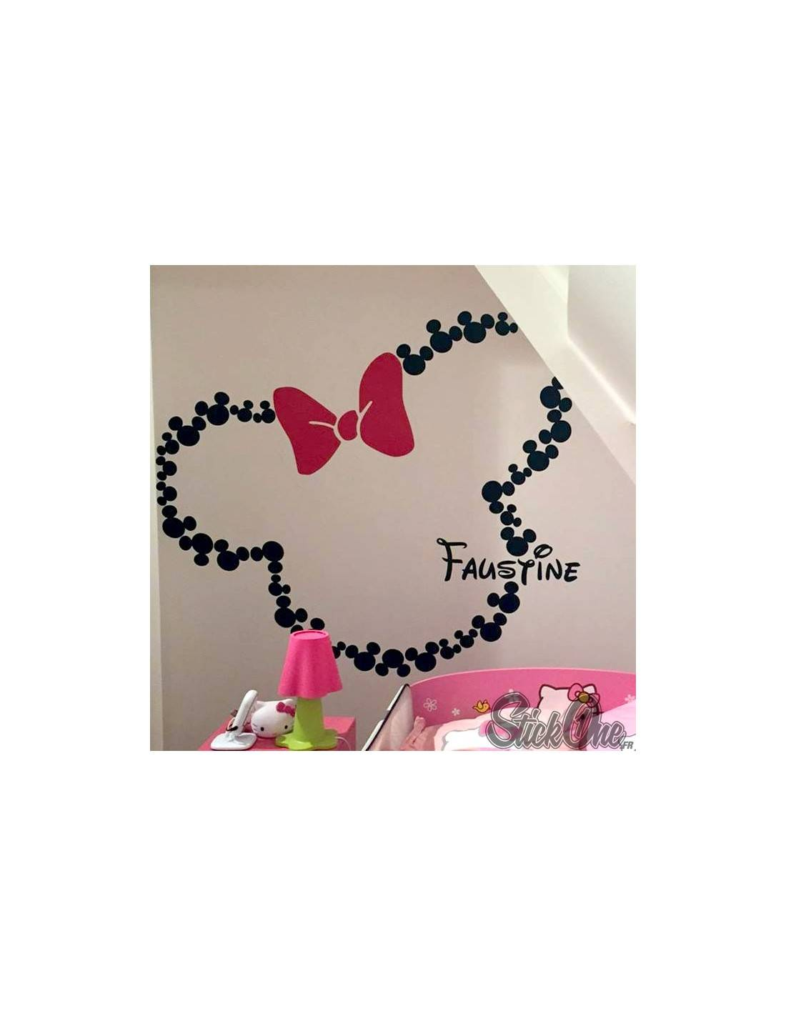 Stickers t te de mickey personnaliser stickers enfant - Decoration mickey chambre ...