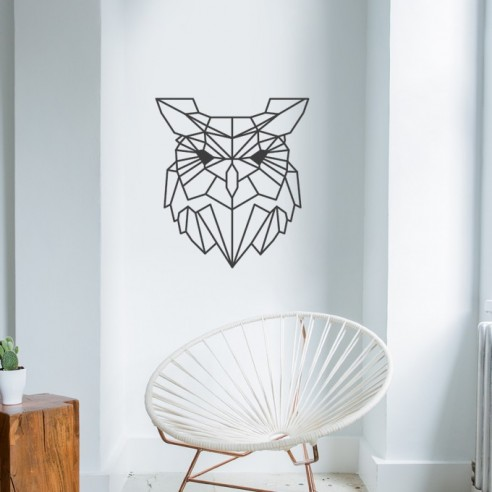 Sticker hibou design polygone
