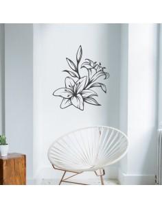 Sticker déco orchidée