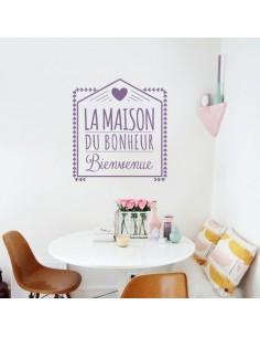 Stickers muraux la maison du bonheur
