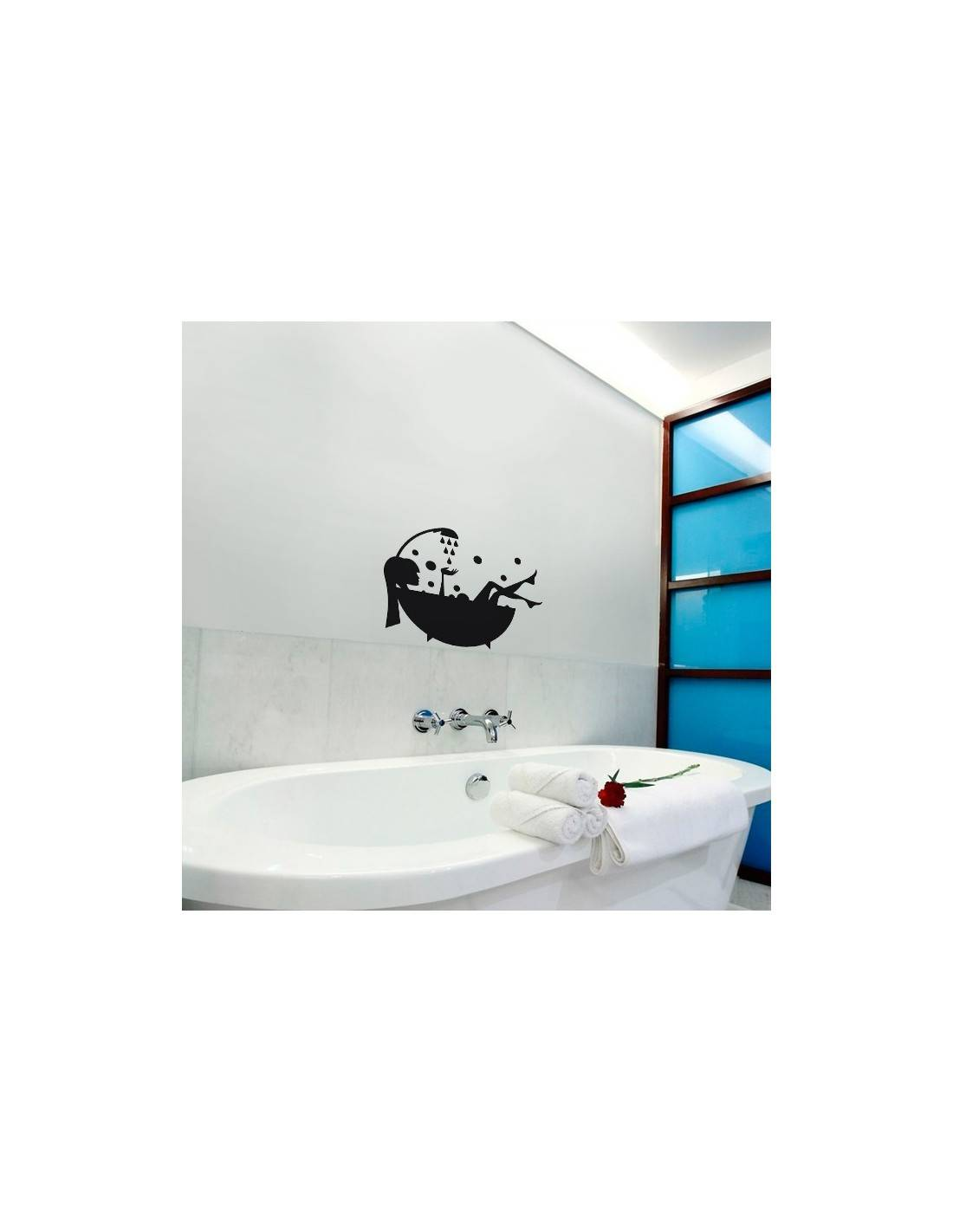 stickers d coration salle de bain stickers porte de salle de bain. Black Bedroom Furniture Sets. Home Design Ideas