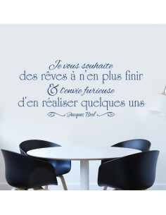 Sticker citation Jacques Brel