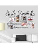 Sticker cadre photo la famille c'est la ou la vie commence