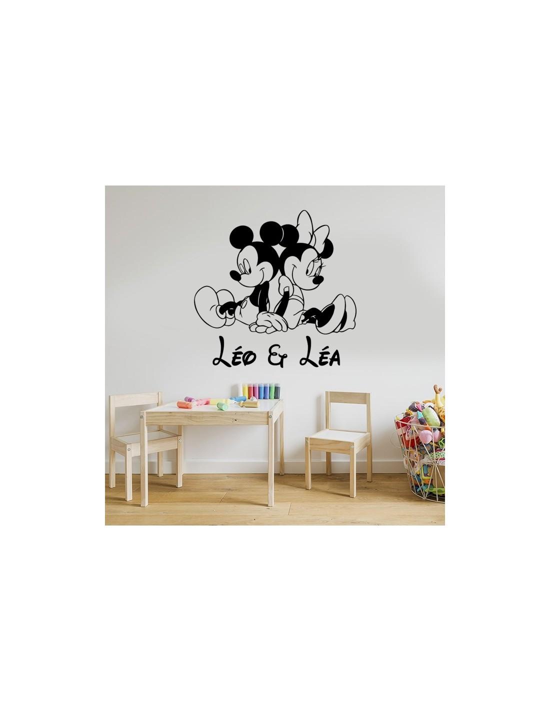 Sticker Mickey Et Minnie Pour Jumeaux Mixte Stickers