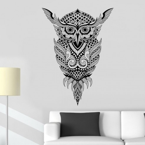 Sticker design hibou