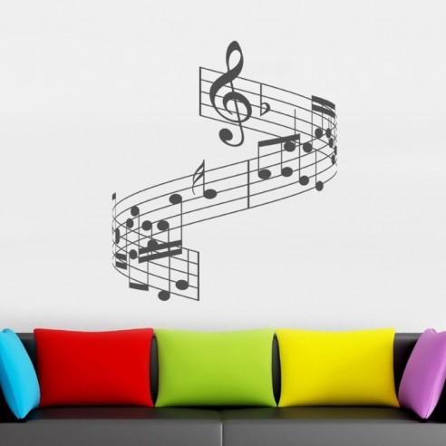 Sticker partition musique