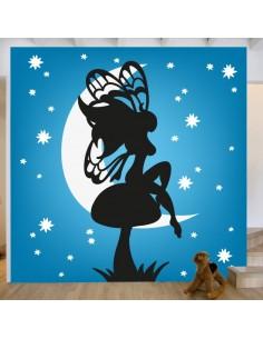 Sticker décor fée nocturne