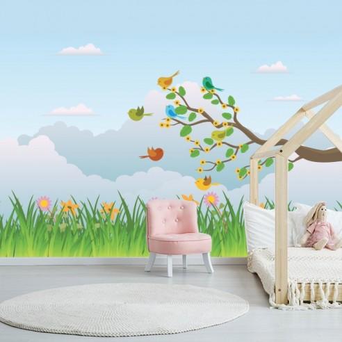 Sticker décor paysage enfant