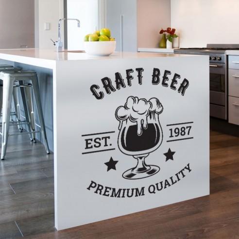 Sticker déco bière