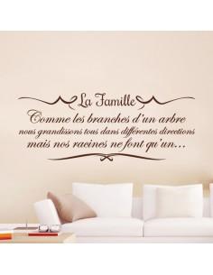 Sticker citation la famille