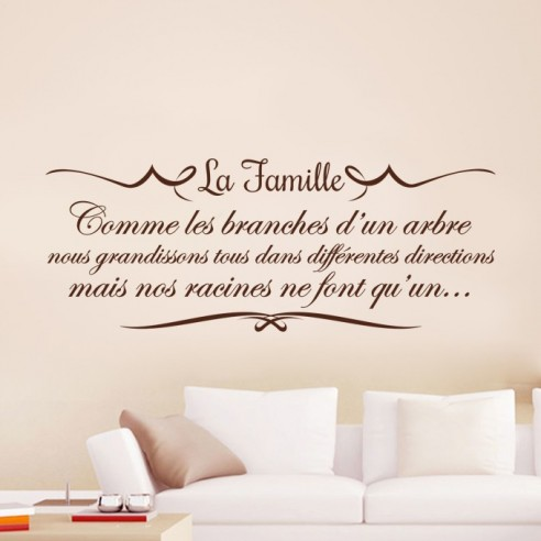 Sticker citation la famille