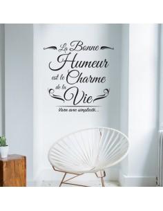 Sticker la bonne humeur est le charme de la vie