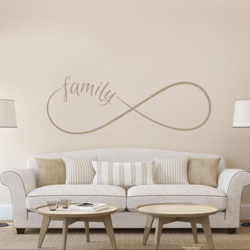 Sticker famille signe infini