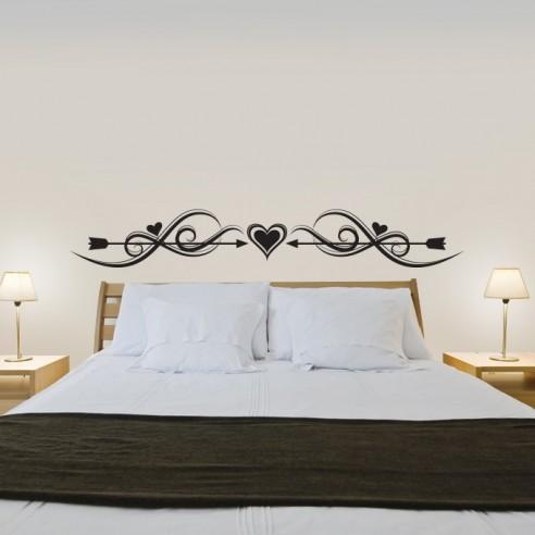 stickers muraux t te de lit d coration murale chambre coucher. Black Bedroom Furniture Sets. Home Design Ideas