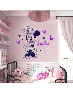 Sticker Minnie avec prénom
