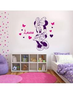 Sticker Minnie avec prénom personnalisé