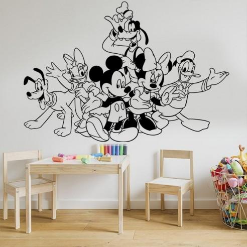 Sticker la bande à Mickey