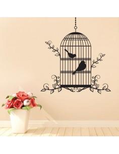 Sticker cage à oiseaux