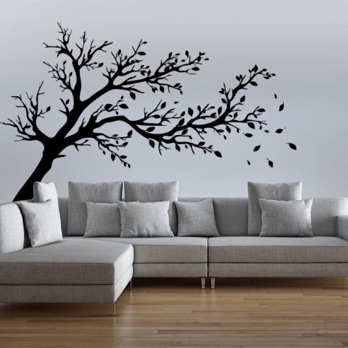 sticker mural arbre. Black Bedroom Furniture Sets. Home Design Ideas