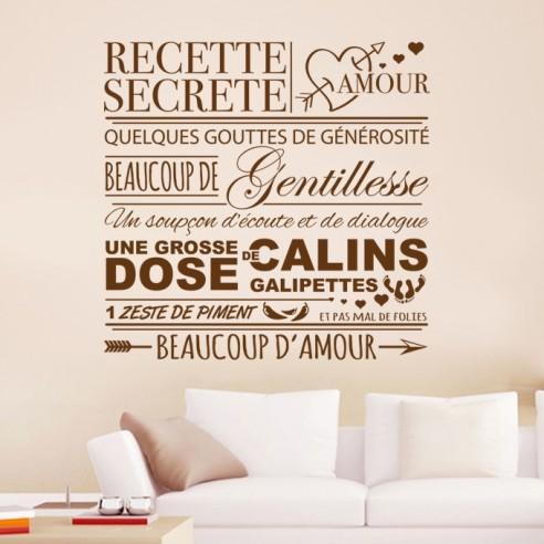 Sticker recette secrète amour