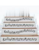 Kit 4 stickers musique contremarches d'escaliers