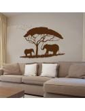 Sticker éléphant savane